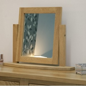 Modern Oak Dressing Table Mirror
