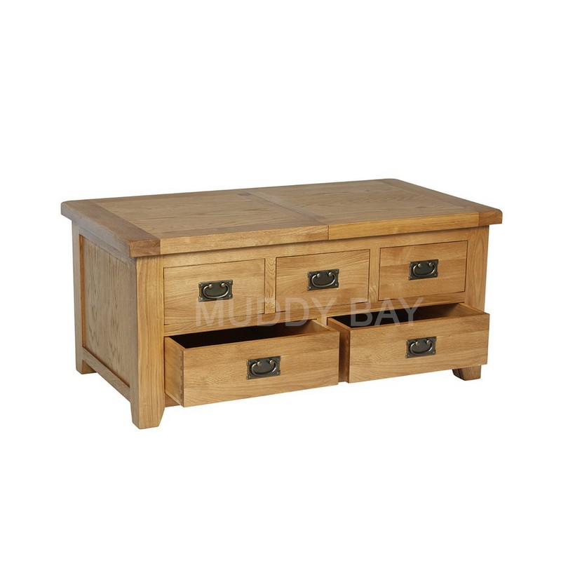 Trent Large Storage Coffee Table with drawers